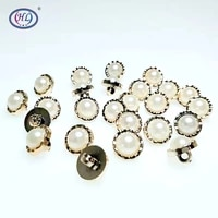 hl 50150pcs 13mm new plating buttons with pearl shank diy apparel sewing accessories shirt buttons