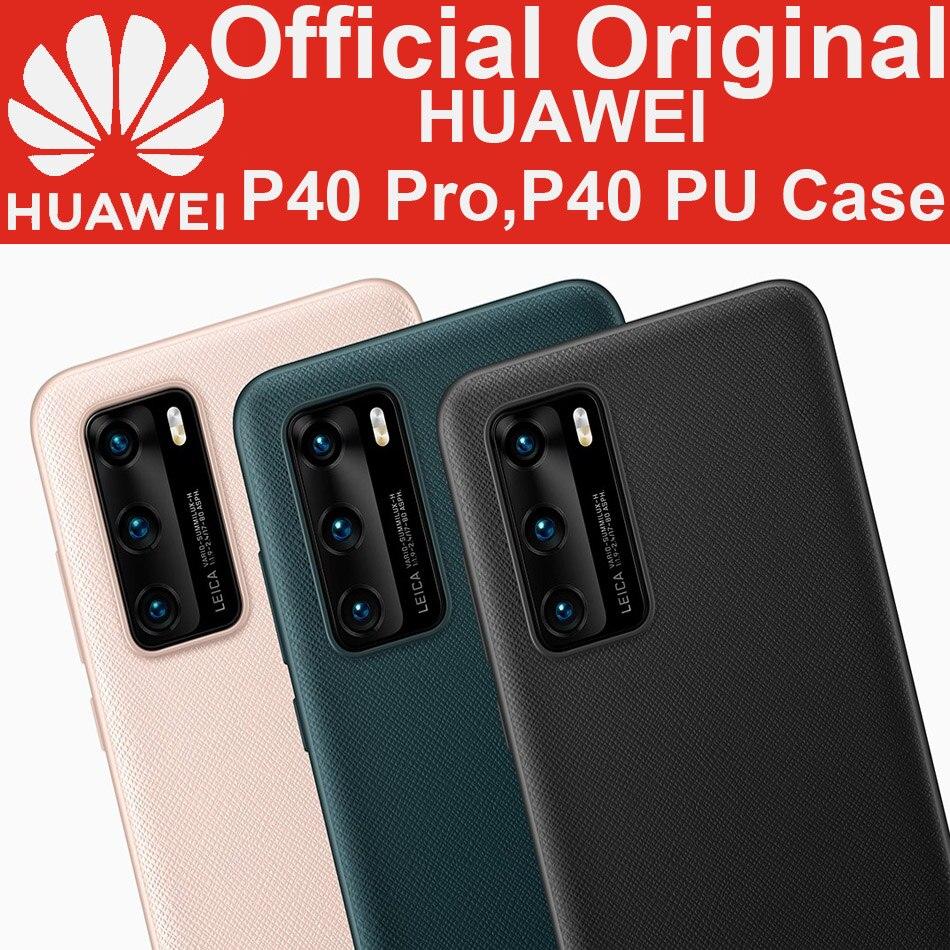 Huawei P40 Pro PU funda P40 Pro + Funda de cuero de PU de lujo Original oficial de alta calidad PU P40 Funda de cuero