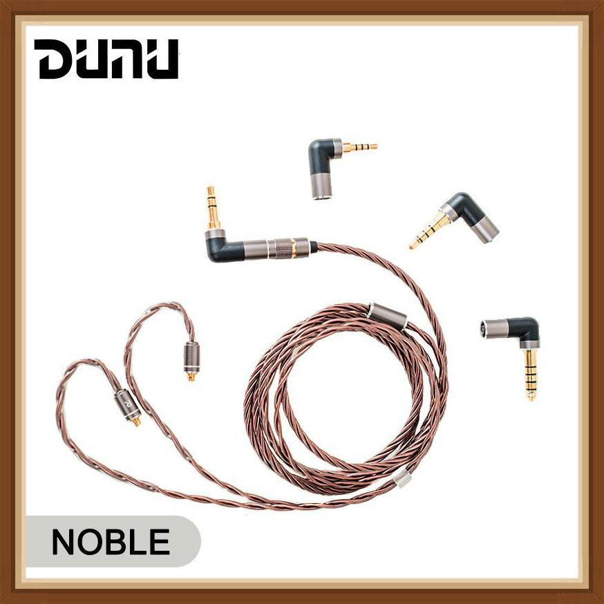 DUNU NOBLE الأصلي سماعة كابل من DK4001 Furutech OCC الفضة مختلط سلك مع 4 سريعة التبديل موصلات MMCX/0.78 مللي متر
