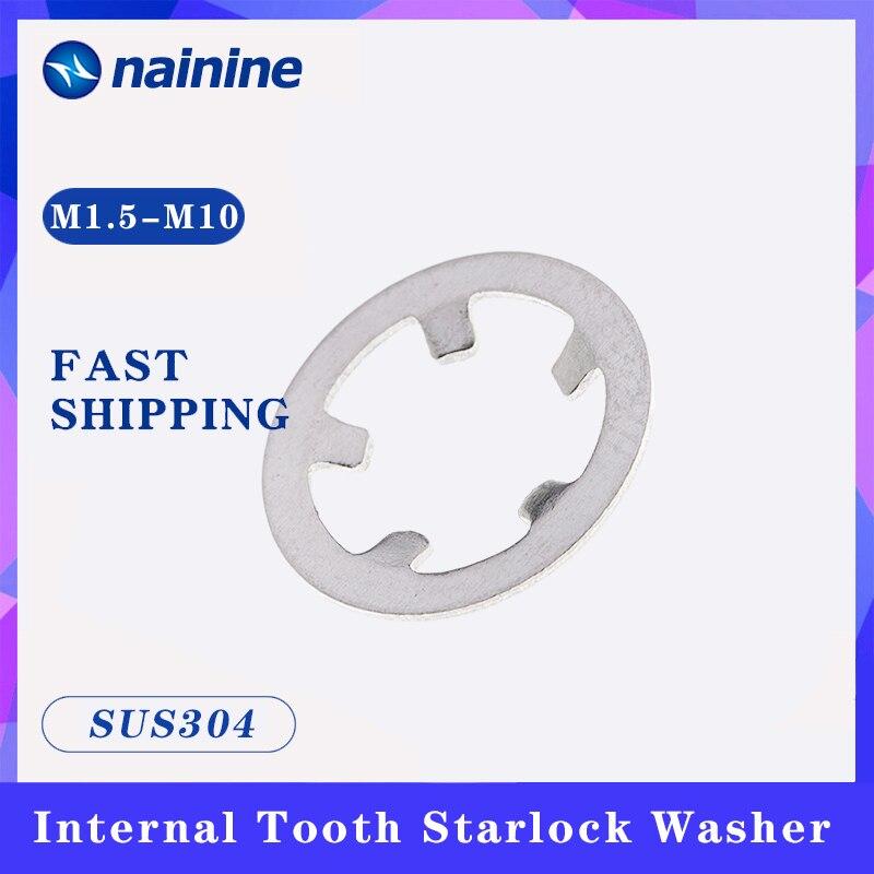 Starlock Washer [M1.5-M10] 304 Acero inoxidable dientes internos bloqueo Clip de velocidad Hardware Anti-corrosión A078