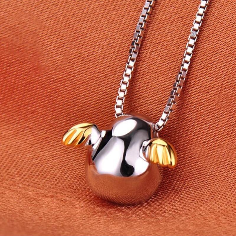 Ángel lindo huevo collar con colgante elegante de las mujeres regalos de joyería para boda creativa fiesta de moda Cadena de clavícula