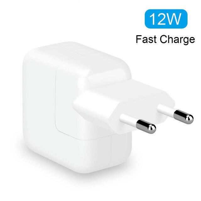 2.1A Быстрая зарядка 12 Вт USB адаптер питания для телефона для путешествий и дома зарядное устройство для iPhone X 8 Plus 7 6S 5S iPad Mini Air sa m u ng для евро