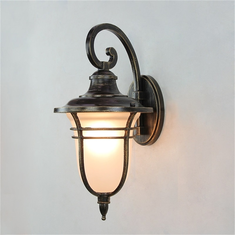 BRIGHT Retro Outdoor Wall Lights Classical LED Sconces Lamp Waterproof Decorative For Home Porch Villa enlarge