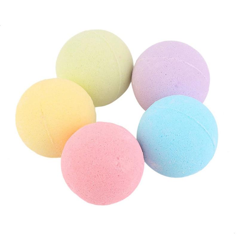 Bola redonda de sal de banho de 10g, sal de banho brilha, esfoliada e esfoliada da pele