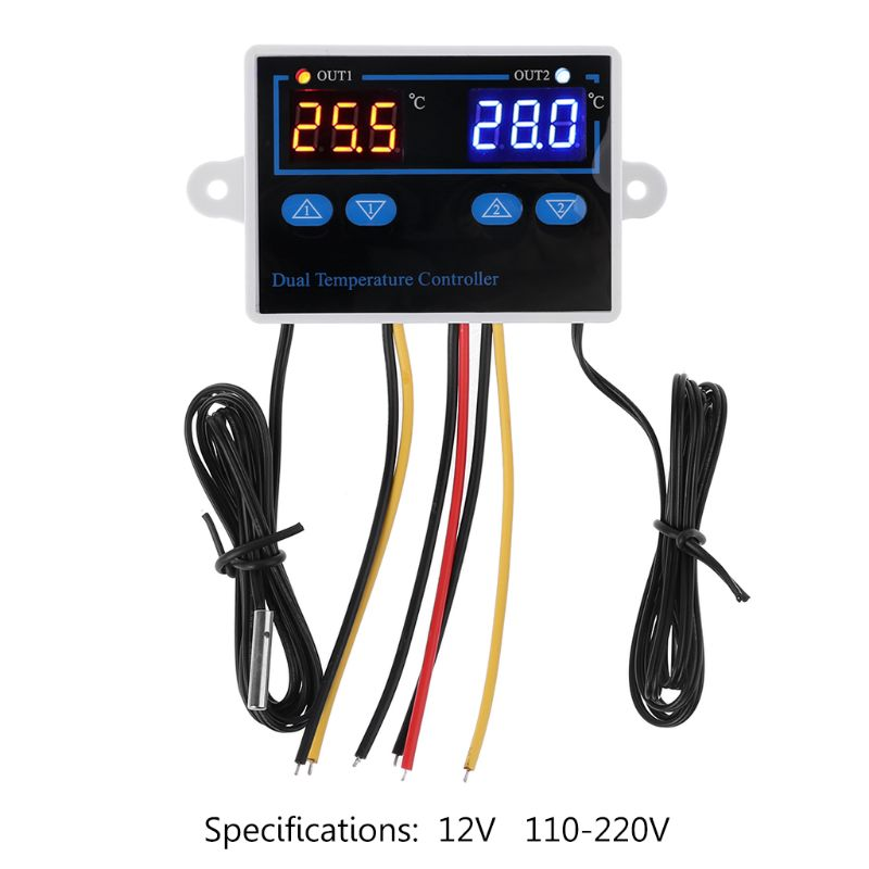 Dual Thermostat for Incubator 10A Digital Heating Cooling Temperature Controller L4MF