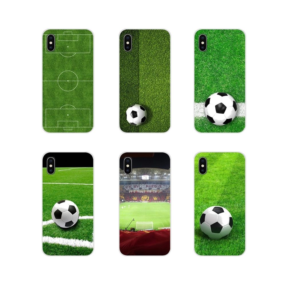 Campo de fútbol verde para Huawei G7 G8 P7 P8 P9 P10 P20 P30 Lite Mini Pro P Smart Plus 2017 2018 2019 carcasa suave transparente