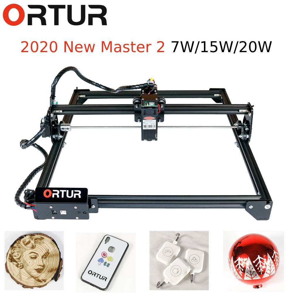 40cm*43cm DIY 7W/15W/20W Ortur OLM-2 Laser Engraving Machine Laser Engraver Printer Carving Desktop Laser Logo Picture CNC Kit