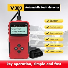AOSHIKE ELM327 12V OBD2 lecteur de Code de voiture Support complet OBDII Obd 2 fonction giagnostique avec multi-langue V309 pour Ford