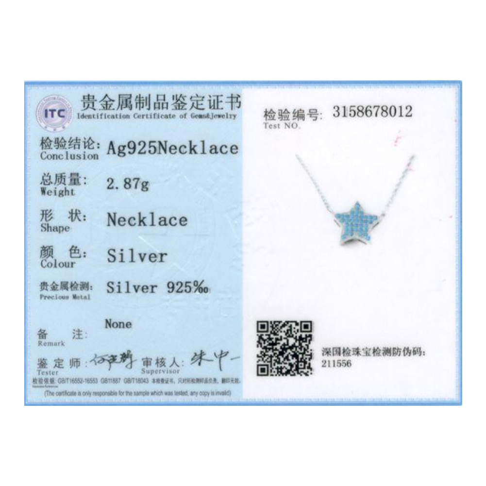 ZEMIOR 925 Sterling Silver Necklace For Women Trendy Semiprecious Stone Star Pendant Necklaces New Arrival Silver Fine Jewelry