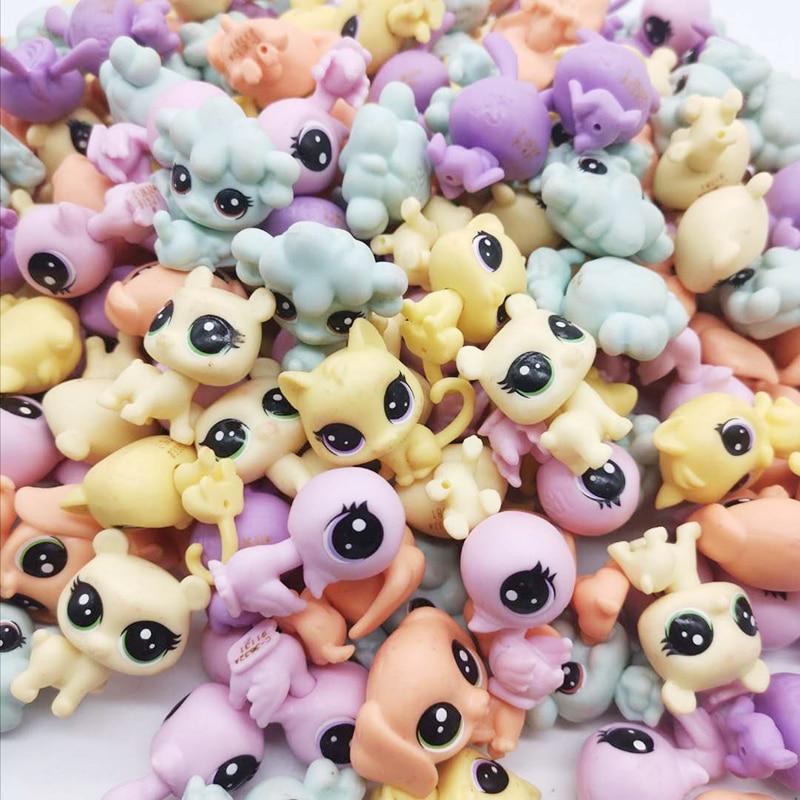 5 pçs/saco lps boneca bonito pequeno animal de estimação modelo brinquedos mini gato cão velho pet shop brinquedos crianças presente