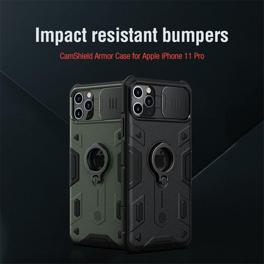 Carcasa NILLKIN para iPhone 11 pro, carcasa armadura Camshield, parachoques resistente a impactos para iPhone 11 pro Max SE 2020 7 8, protección de cámara