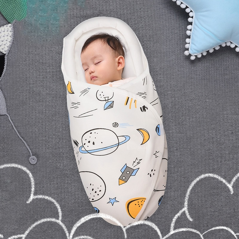 Baby swaddling wraps, cotton, spring and summer newborn sleeping bags, baby anti-shock wraps, baby products organic
