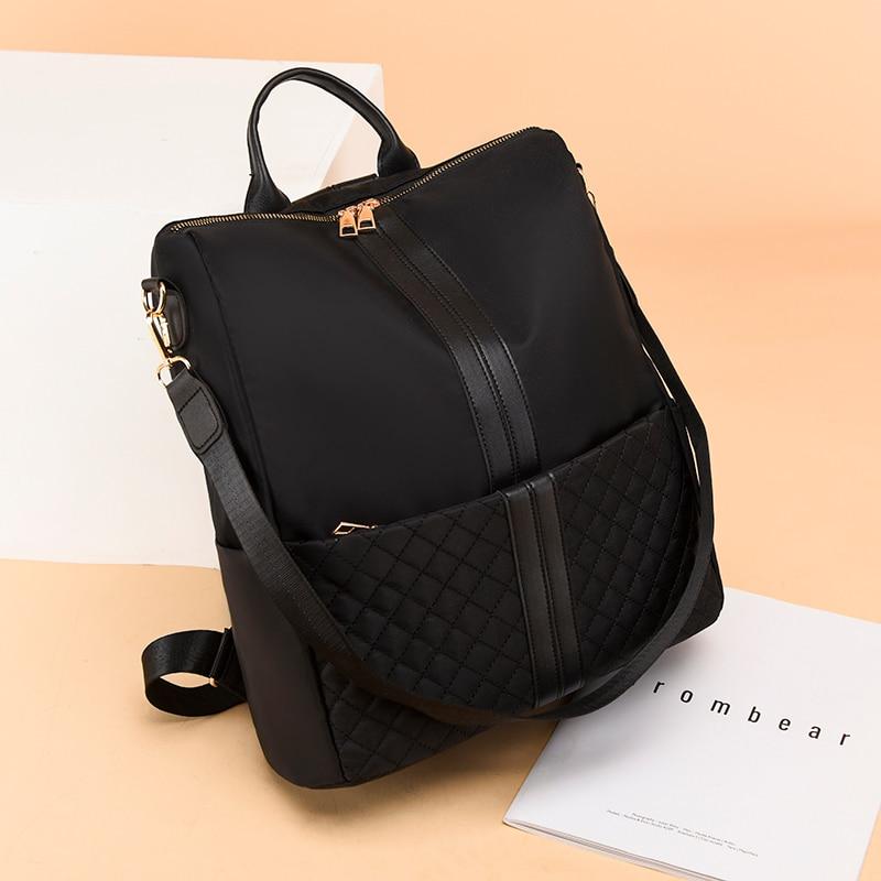 2021 جديد مقاوم للماء أكسفورد القماش المرأة على ظهره الإناث عالية الجودة حقيبة مدرسية Teenage حقيبة السفر سعة كبيرة
