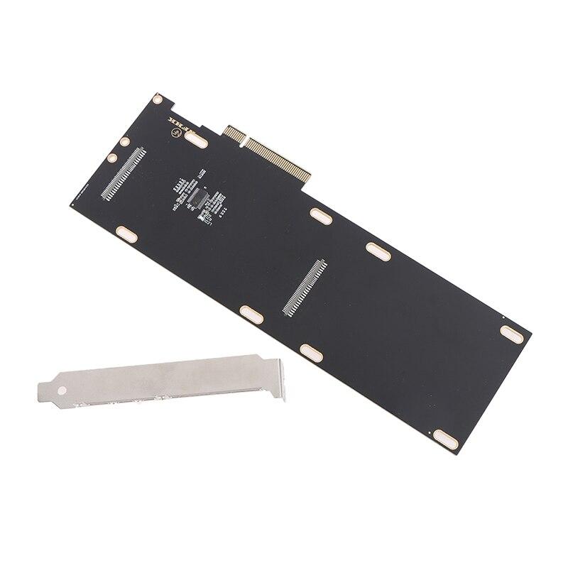 مزدوج الولايات المتحدة 2 SFF-8639 SSD إلى PCIe 3.0 4.0x8 X16 القرص صفيف بطاقة VROC محول بطاقة