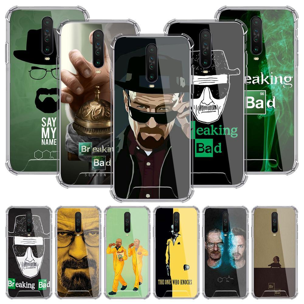 Heisenberg Breaking Bad Case For Xiaomi Redmi Note 8T 9S 8 9 Pro 7 10X 5G K30 7A 6 Airbag Anti-Fall TPU Phone Cover Sac