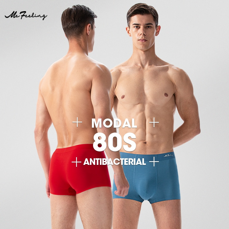 【mefeeling Brand】 Men's Underpants Stretch Modal Antibacterial Fabric Individual Packing Trace