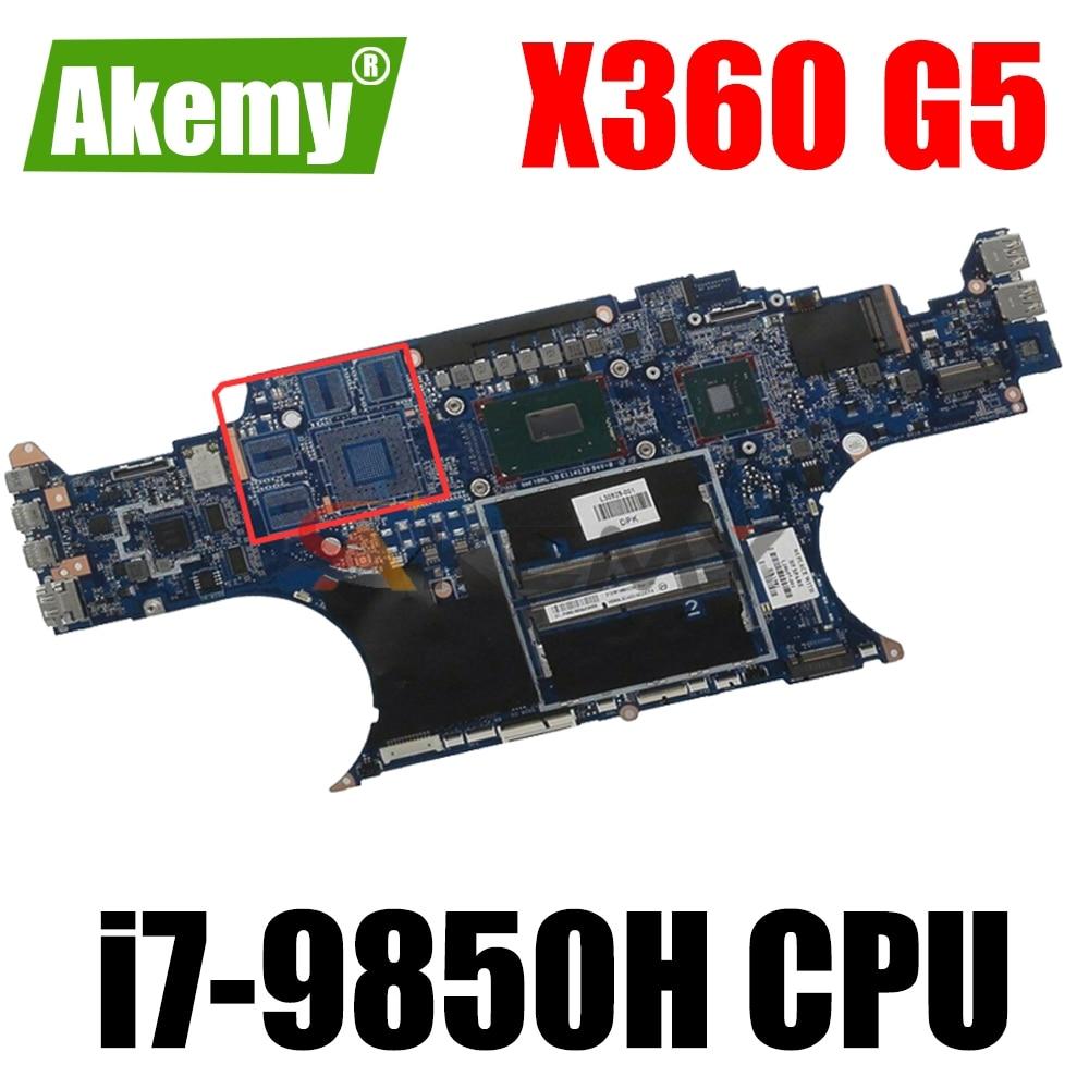 L74598-001 L74598-601 ل HP ZBOOK ستوديو X360 G5 اللوحة المحمول DA0XW1MBAI1 مع i7-9850H وحدة المعالجة المركزية 100% اختبارها بالكامل