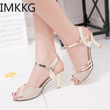 2020 Summer Shoes Woman Dress Shoes Bling Weddging Shoes gold Silver High Heels Pumps Ladies Shoes