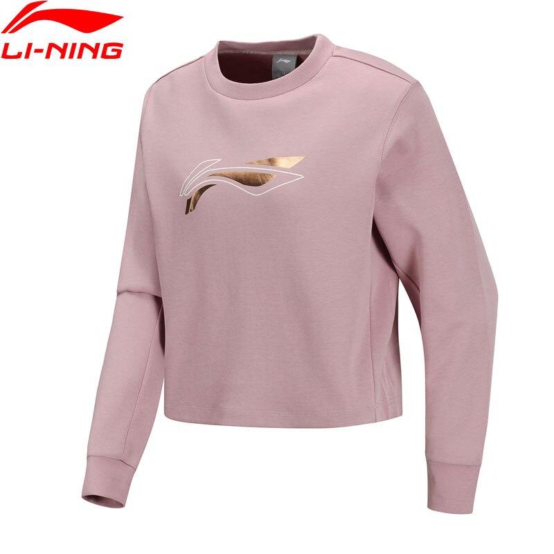 Li-ning, camiseta de entrenamiento para mujer, Top de punto, ajuste Regular, cremallera 82% algodón 18% poliéster, forro Li Ning, camisetas deportivas, Pullove, AWDQ114 WWW1079