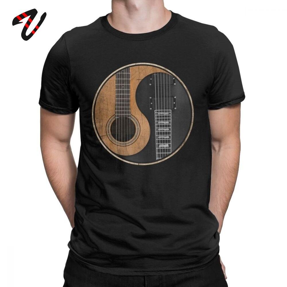Yin Yang, camisetas de guitarra eléctrica acústica, Tai Chi chino, Taiji, camisetas para hombres, increíble camiseta de música de Rock, ropa de Fiesta de DJ