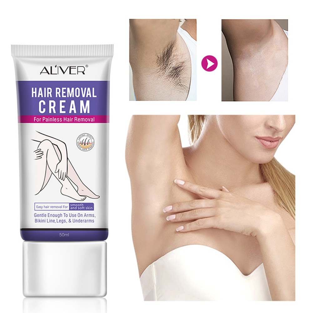 Hair Removal Cream Depilatory Cream Skin Friendly Painless Hair Remover Cream with Cleaning Spatula painless hair removal