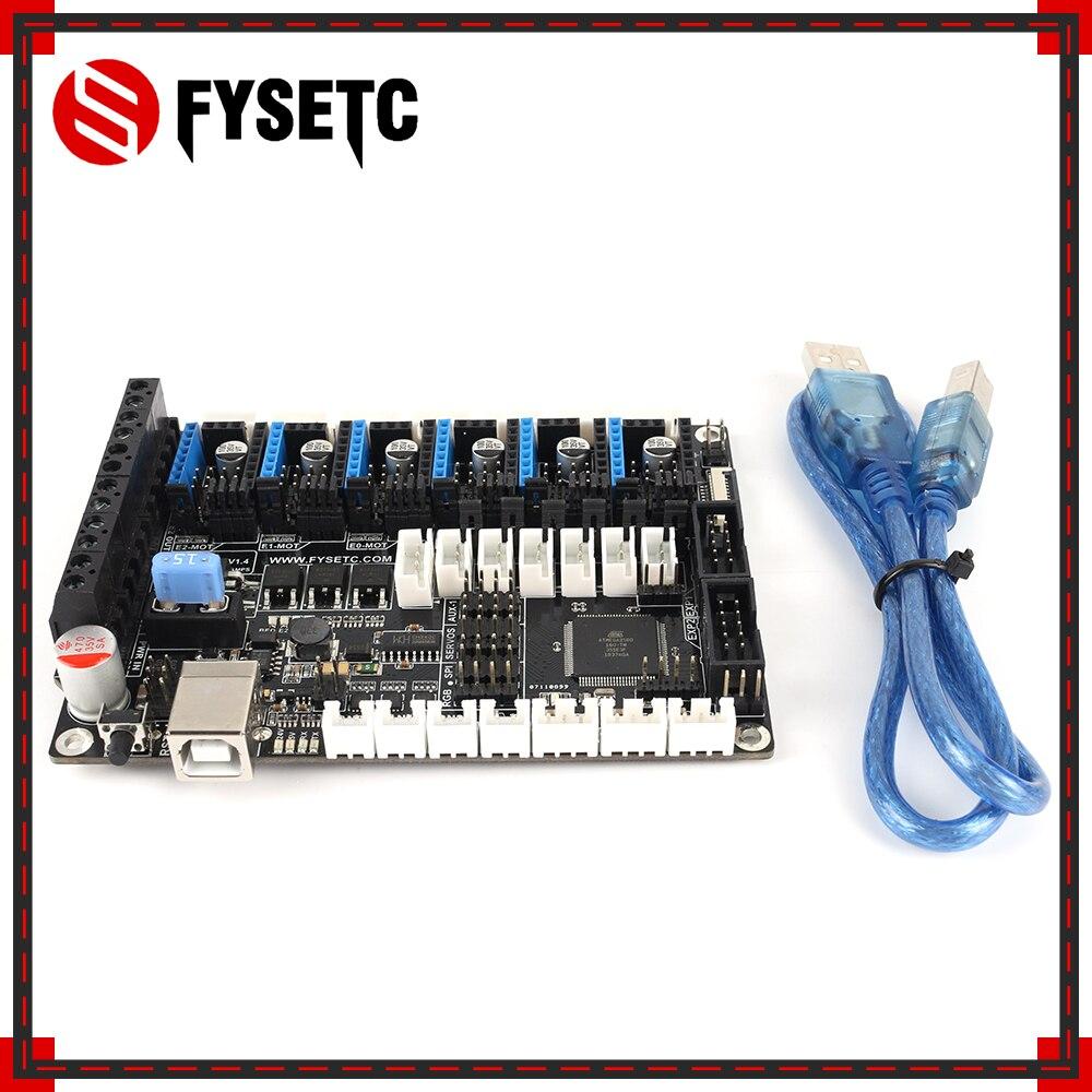 FYSETC F6 V1.4 placa todo en uno hasta 6 controladores de Motor para TMC2208 UART volando con conector XH/MX VS SKR V1.3 S6 para Ender 3