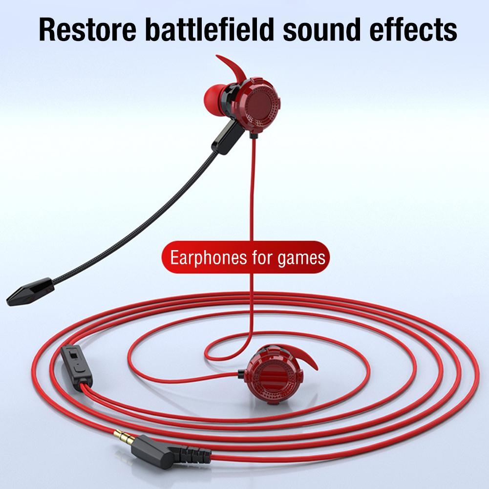 Headset Bluetooth Silicone Earphones Anti-Loss Strap Gaming Headphone Earbuds with Microphone for PC