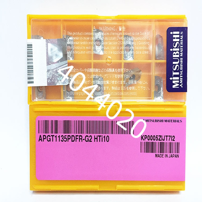 Mitsubishi APGT1135PDFR-G2 HTI10 para ALU insertos de carburo 10 Uds APMT1135 BAP300