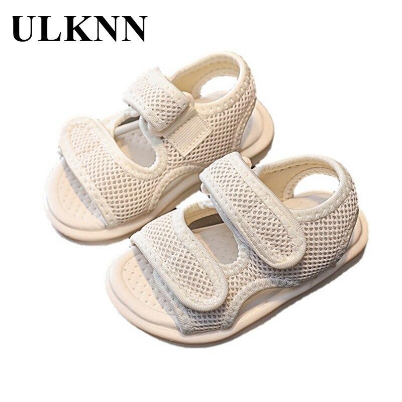 ULKNN Boys Sports Sandals 2021 New Summer Toddler Sandals Baby Non-slip Soft Bottom Children's Sandals Girls Indoor Shoes