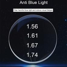 ROYAL GIRL Anti Blue Light Blocking 1.56 1.61 1.67 Prescription Myopia Lenses GREEN-EMI Radiation-proof Aspherical Lens Ss858