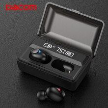 DACOM T8 Drahtlose Kopfhörer Bass Bluetooth 5,0 Kopfhörer Wasserdicht Mini Wahre Tws Ohrhörer mit Power Bank LED Display PK i12 tws