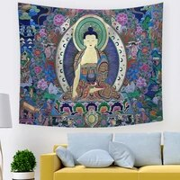 idol tapestry buddha guanyin idol background cloth large size tapestry home decoration fabric