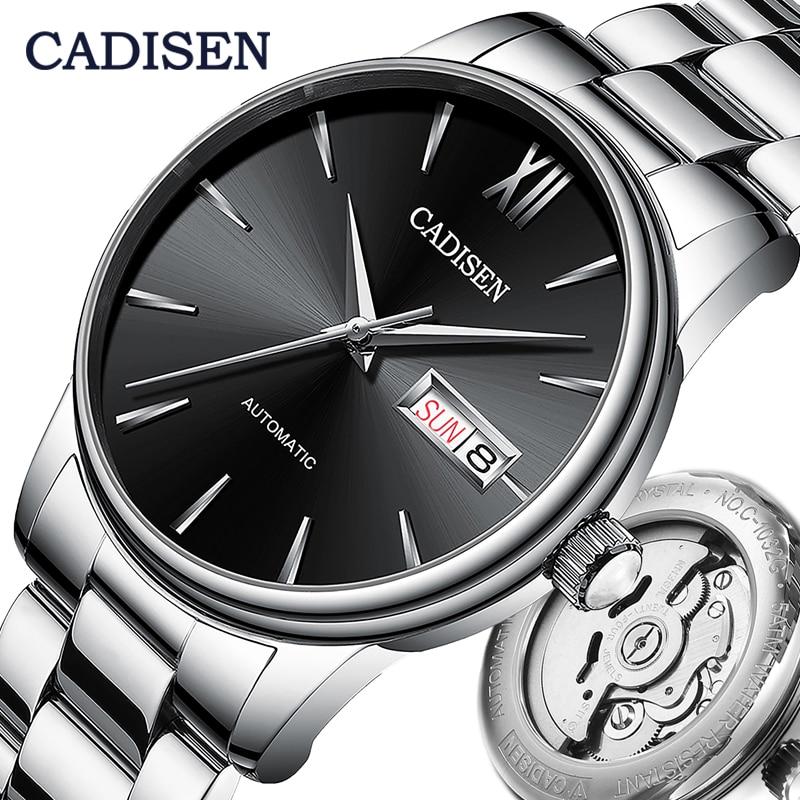 CADISEN Men Watch Automatic Mechanical Watches Japan NH36A Role Date Week Top Luxury Brand Wrist wat