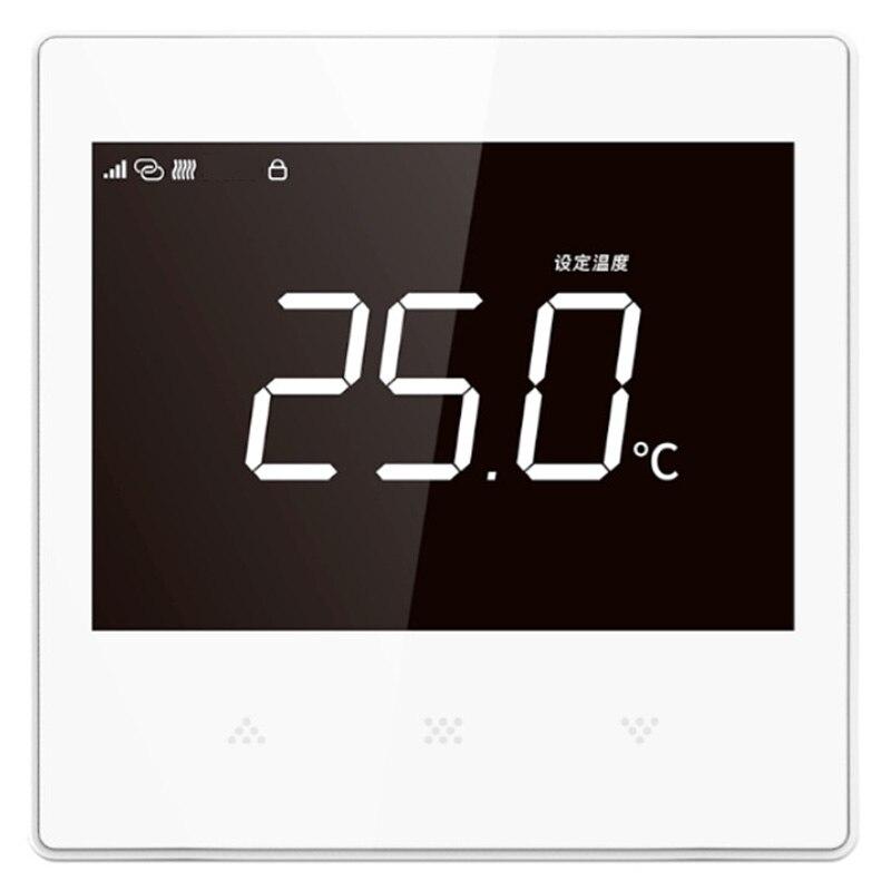 Panel de Control de temperatura de la pantalla de la presión remota del teléfono móvil WiFi del controlador de temperatura de la calefacción del suelo montado en la pared