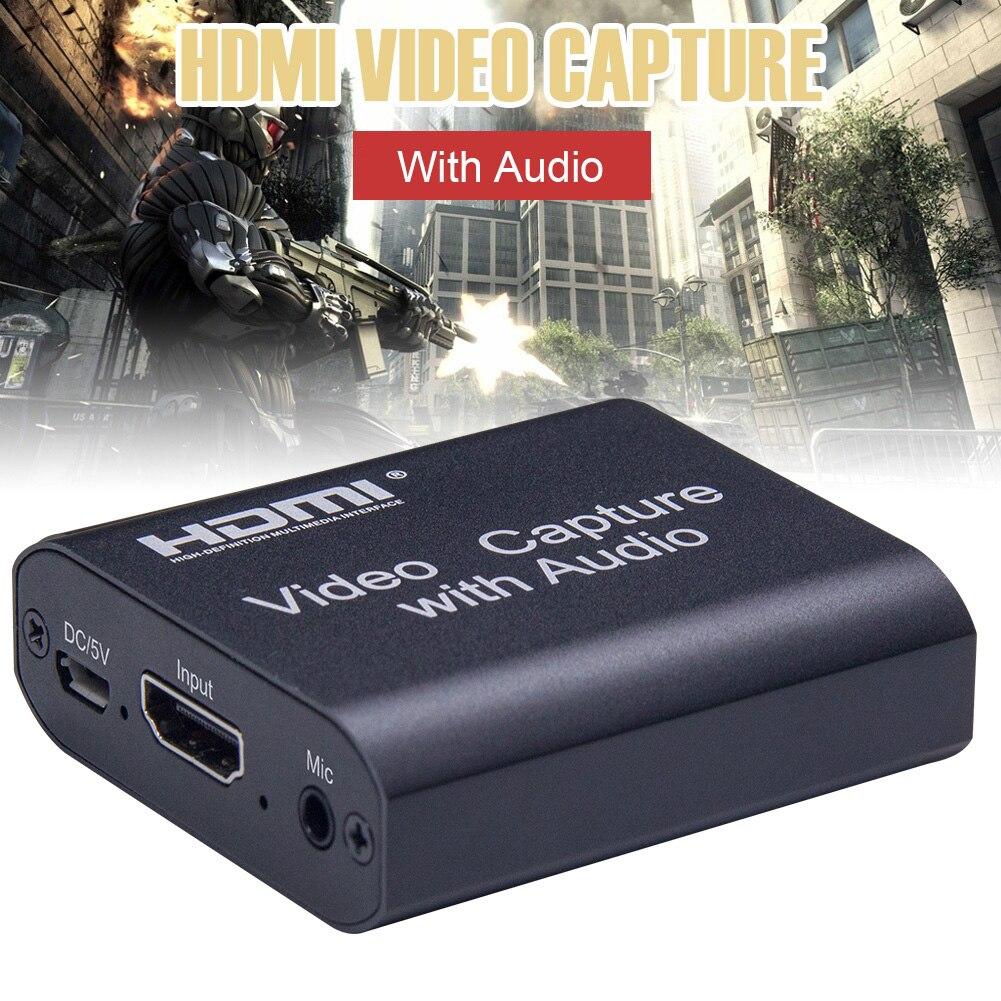 Dispositivo de captura de vídeo HDMI 1080P con circuito de Audio + captura de vídeo Tarjeta de captura de juegos de disco para Windows, Android,mac OS envío rápido