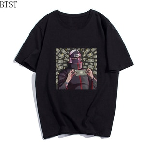 Anime T Shirts Classic Hip Hop Short Sleeve Top Colored Plus Size O-Neck Tee Shirt Men Streetwear Clothing