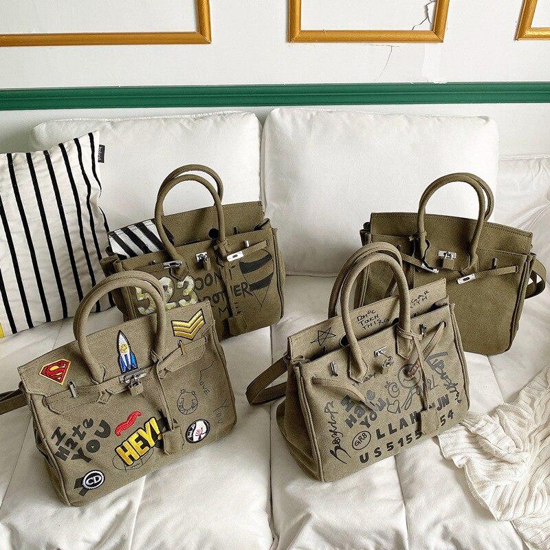 الكتابة على الجدران حمل حقيبة فاخرة مصمم حقائب اليد للنساء Crossbody حقائب كتف Bolsas Femininas دي لوكس ساك باندويار فام