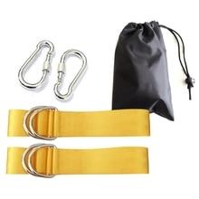 Balançoire Kit dinstallation fixe hamac pansement extérieur balançoire balançoire Nylon cravate corde