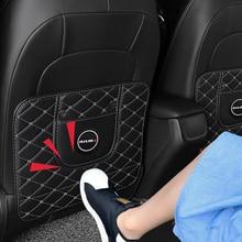 Fibre cuir siège auto accoudoir anti-coup de pied tapis anti-coup de pied tapis de plateau anti-jeu pour Nissan Tiida Teana horizon Juke x-trail Almera