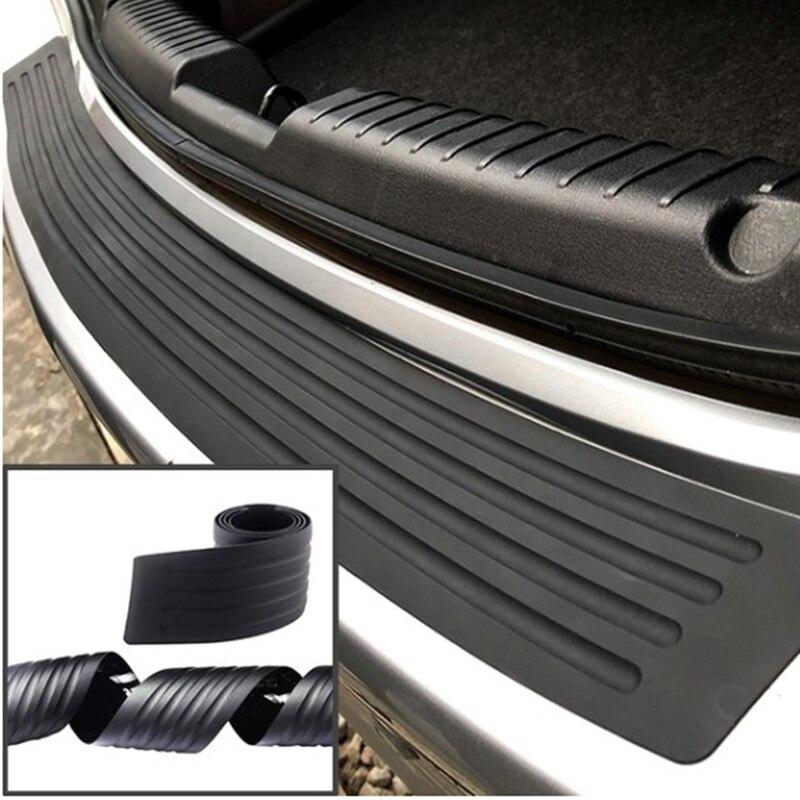 Car Rear Bumper Protector Sticker Trunk Sill Grard Rubber Strip Cover Pad Rear Trunk auto Protection Sticker cars supplies