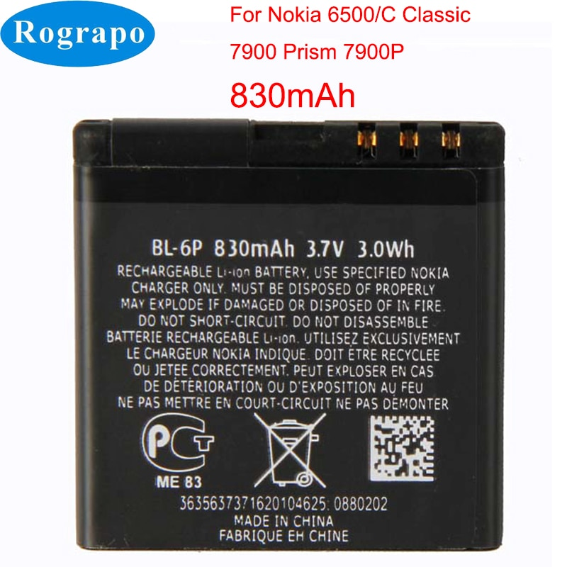 Original BL-6P BL-5K BL-5J BL-5C BL-4C Battery For Nokia 6500C 7900P 5230 5233 5232 N85 N86 N87 N70