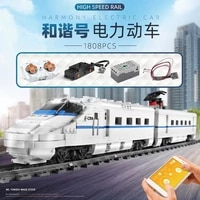building blocks toy train series puzzle assembly remote control electric assembly insert small particles