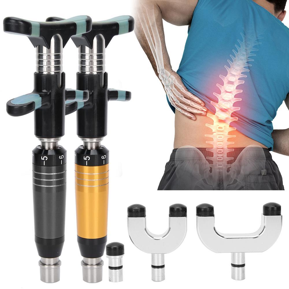 6 مستويات قابل للتعديل دليل تصحيح العظام أداة للعلاج محفز الفولاذ المقاوم للصدأ العمود الفقري تقويم العمود الفقري مدلك الرعاية الصحية