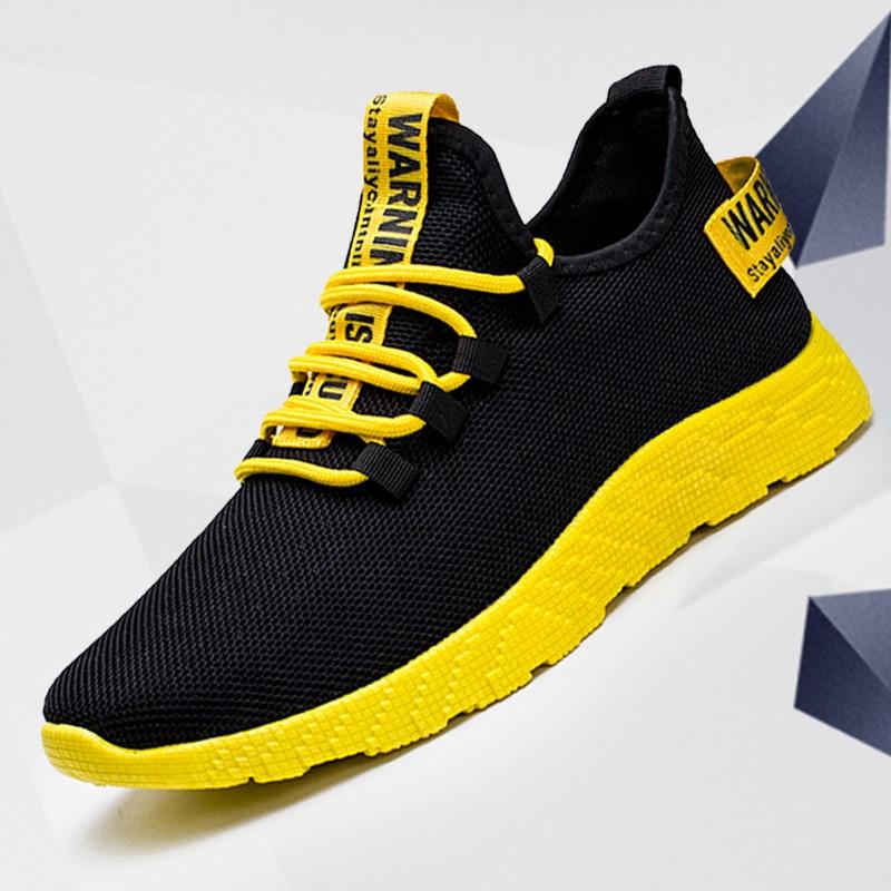 أحذية الرجال الرياضية الجديدة لعام 2020 ، أحذية شبكية للرجال قابلة للتنفس ، أحذية عصرية غير رسمية بدون الانزلاق للرجال ، أحذية فلكنيز ، أحذية ت...