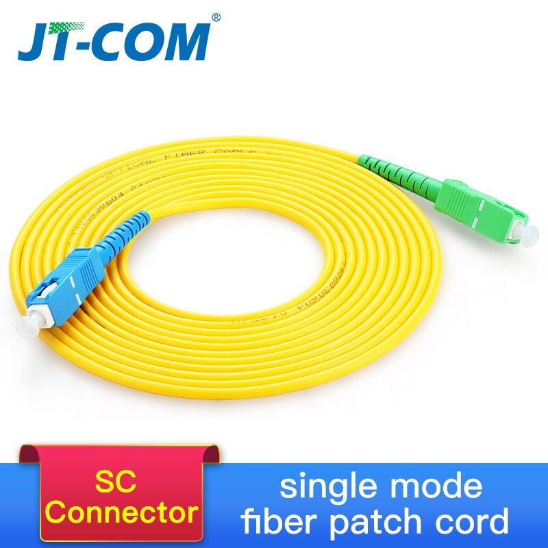 SC Singlemode Fiber Optic Patch Cable SC APC-UPC SM 2.0 or 3.0mm 9/125um FTTH Fiber Patch Cord Optical Fiber Jumper 3m 10m 30m