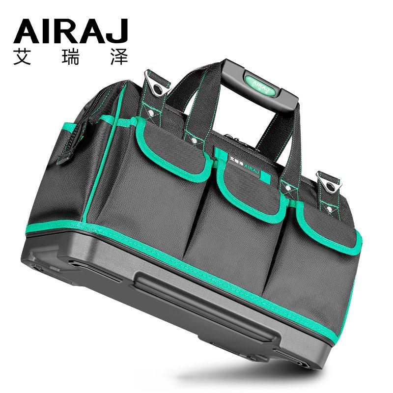 AIRAJ-حقيبة أدوات كهربائية محمولة ، حقيبة أدوات متعددة الوظائف ، تركيب إصلاح ، قماش سميك ، جيب عمل