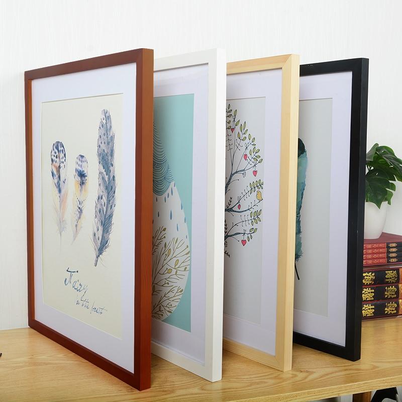 A4 A3 Wooden Frame Black White Color Photo Frames for Wall Art Picture Frames  Photo Frames for Picture Walnut Wood Frames