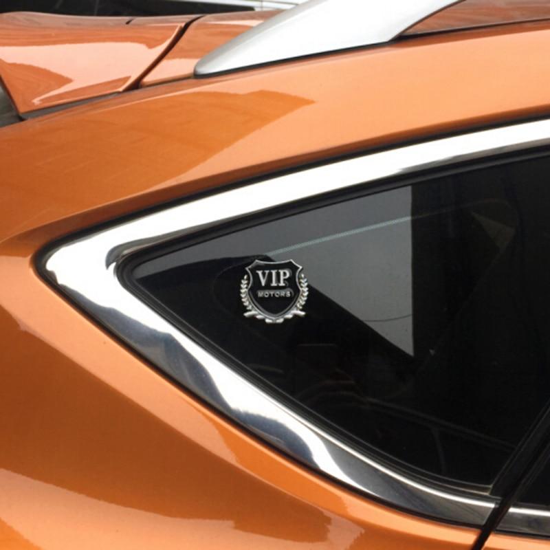 De Metal VIP motores emblema coche pegatina 2 piezas para kia Optima kia rio 2018 octavia a5 golf mk7 peugeot 308 hover chr renault