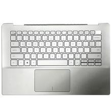 NEUE Laptop Für DELL Inspiron 5000 5490 5498 Silber Notebook Computer Fall 0X6YXC Fall Palmrest Ober Fall Mit Tastatur touchpad