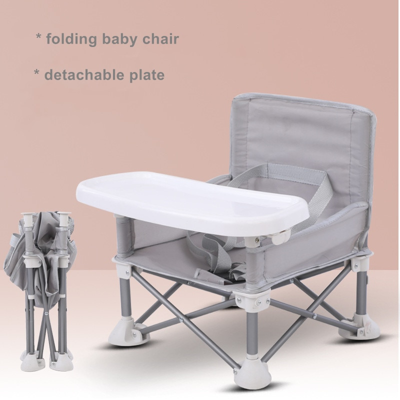 Silla plegable para niños, mesa de comedor para bebés, silla plegable portátil para exteriores, silla de comedor multifuncional para bebés